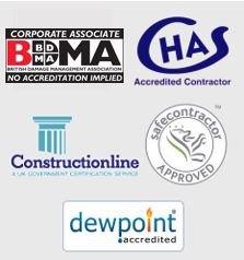 Exor Approved - CHAS Accredited - Constructionline - Safe Contractor